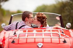 Red MGM 1950s Mad Men inspired love shoot