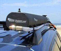 Solar-Heated Road Shower