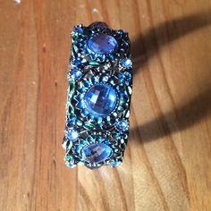 ❗️SALE❗️Blue Floral Cuff Boho Bracelet Bronze color bracelet with filigree detail and diamanté stones. Open cuff. Main colors are bronze & blue. Perfect festival bracelet. One size/Adjustable. Please ask if you have questions. Boutique Jewelry Bracelets
