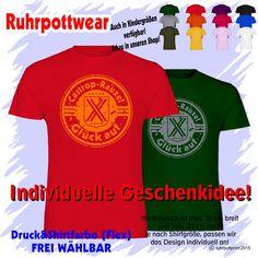 T-Shirt  Castrop-Rauxel Glück auf  individuell gestaltbar mit Flexdruck Ruhrpott