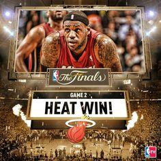 Heat Win Game 2  6/2014