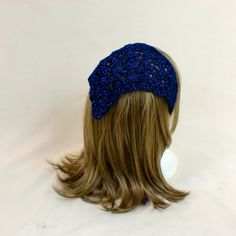Blue Lace Hair Bandana Triangle Scarf Kerchief Crochet Head Rockabilly Cover Tie Lace Headband Band #bandana #lace #blue #triangle #scarf #hairtie #kerchief #fashion