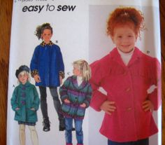 SIMPLICITY Sewing Pattern 7308 - 5,6,7,8 CHILDS JACKET