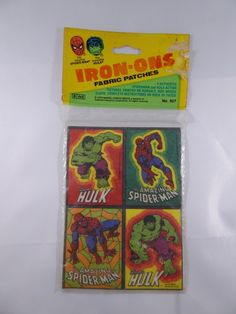 Vintage THE INCREDIBLE HULK & AMAZING SPIDER-MAN IRON-ON PATCHES MIP By Gordy | Toys & Hobbies, TV, Movie & Character Toys, Other TV/Movie Character Toys | eBay!