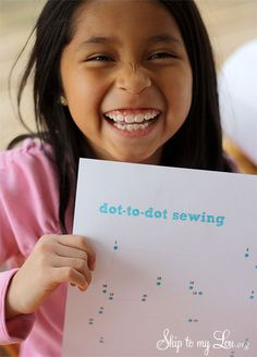dot to dot sewing on paper