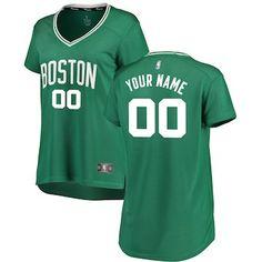 d98f0d010 Boston Celtics Fanatics Branded Women s Fast Break Custom Jersey Green - Icon  Edition Basketball Jersey