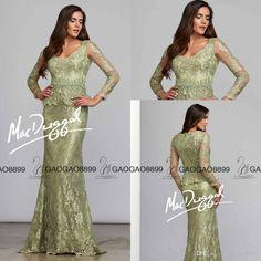 1f1cb1039d7d Vintage Mint Lace Long Sleeve Peplum Mother Of The Bride Groom Dresses  2017… Bride Groom