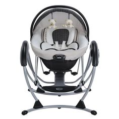 Comfort and cuddle your little one, even when she's not in your arms, with the innovative Graco Premier Gliding Swing. As a gliding swing and bouncer, the Graco Premier is an great, portable way to so Baby Necessities, Baby Essentials, Baby Swings And Bouncers, Baby Gadgets, Baby Planning, Baby Supplies, Everything Baby, Baby Needs, Baby Time