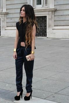 black-brown ombre