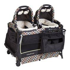 Registry Basics for Twins - Lucie's List Multiples - babytrend-twins playard bassinet