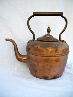 Old Moroccan Copper Kettle. Early 20th C.