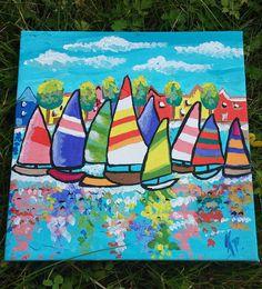 Ηandmade painting on canvas. Painted with acrylic by LoveFor