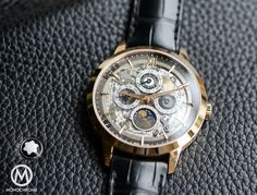 The Montblanc Heritage Spirit Perpetual Calendar with Sapphire Dial.