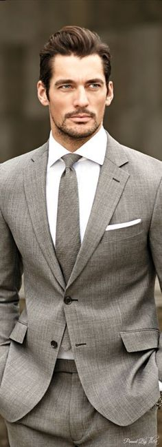 Smart looking suit but outfit would benefit from a bit of subtle colour blended with the grey in tie & PS ! www.zeusfactor.com #menssuitsbusiness