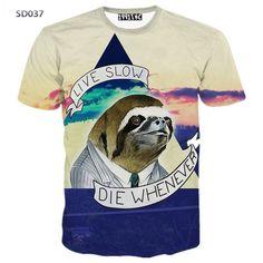 d228cb766 Summer Fashion Abstract Animal 3D Print T-shirt for Women/Men Casual Short-