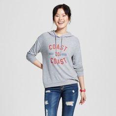 Well Worn Women's Coast to Coast Soft Brushed Leisure Pullover Sweatshirt Heather Gray - Well Worn (Juniors')