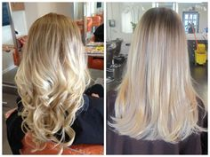Ash Blonde with Ombre