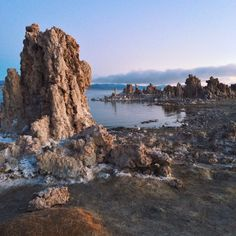 Mono Lake, CA  #sunrise #monolake #tufa #lake #shore
