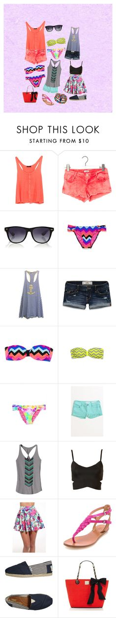 """""""Summer Things"""" by bailiecross ❤ liked on Polyvore featuring Antik Batik, Pull&Bear, Warehouse, Victoria's Secret, Sperry, Hollister Co., Victoria's Secret PINK, Bullhead Denim Co., Patagonia and Topshop"""