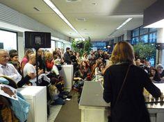 Taller obrador del VI Salón del Chocolate de Madrid en Moda Shopping. @Chocoadictos.