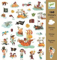 Sticker Aufkleber Piraten von Djeco 160 Stück - Bonuspunkte sammeln, Kauf auf Rechnung, DHL Blitzlieferung!