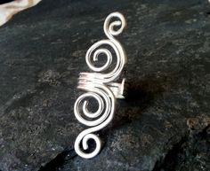 Silver+Double+Swirl+Coil+Ring+Sterling+silver+coil+by+dAgDesigns,+£24.00