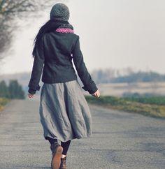 Lněná šedá Waist Skirt, High Waisted Skirt, Sewing, Skirts, Closet, Fashion, Clothing, Moda, Armoire