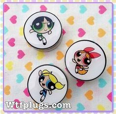 Power Puff Girls Plugs, Gauges, Stretched Ears, Stretched Lobes, Tunnels, Tappers, Weights, Spirals, Spacers