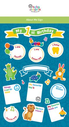 Personalize your baby's first birthday with this adorable board customized for your baby! Get your printables now!