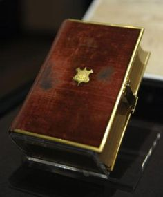 The Bible used by Abraham Lincoln at his first inauguration for his Presidency. (recently used by Pres. Obama at his swearing in).  *s