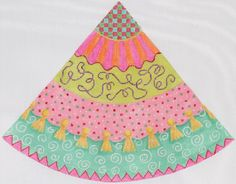 "New Kate Dickerson ""Funky Fiesta"" Collection -   cone tree topper"