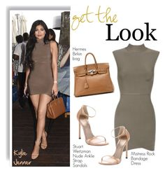 """""""Get the Look: Kylie Jenner"""" by helenevlacho ❤ liked on Polyvore featuring Hermès, Stuart Weitzman, GetTheLook, StreetStyle, KylieJenner and CelebrityStyle"""