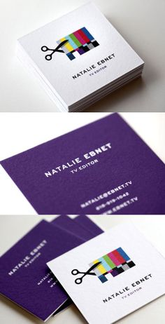 Business Card l TV Editing Identity Design. Great business card design. /increible diseño
