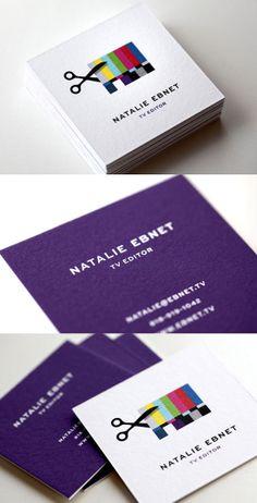Business Card l TV Editing Identity Design. Great business card design. /increible diseño