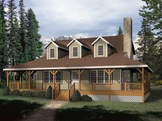 Southern House Plan Front of Home - 058D-0032   House Plans and More