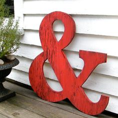 RED ampersand sign -- outside decor