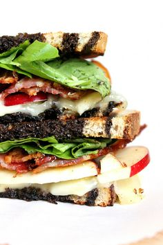 Grilled Apple, Bacon, and Brie Panini