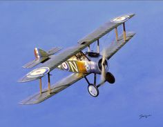 Aviation Art Painting by Terry Jones - The Camel