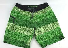 NEW SPEEDO HYBRID SWIM SUIT WATER SHORTS TRUNKS MENS 34 BROWN FLORAL  FREE SHIP