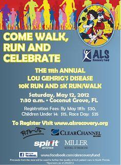 11th Annual Lou Gehrig's Disease 10K Run and 5K Run/Walk - South Florida