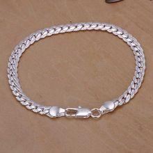 2015 nuevo 925 pulseras de plata de la joyería de plata brazaletes forme a mujeres hombres pulseira masculina summer style pulseras(China (Mainland))