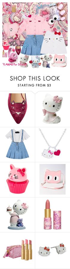 """""""KAWAII :: KITTY LOVE"""" by kalenalexis ❤ liked on Polyvore featuring Hello Kitty, Charlotte Olympia, Nao, Banned, tarte and Too Faced Cosmetics"""