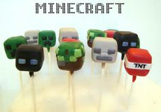 Minecraft cake pops by Evie and Mallow
