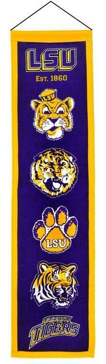 LSU Tigers Banner 8x32 Wool Heritage