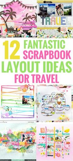 Scrapbook Layouts Ideas Making for Travel, Beginners, DIY Templates, Design