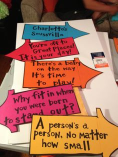 Signs for out front--Dr. Seuss baby shower