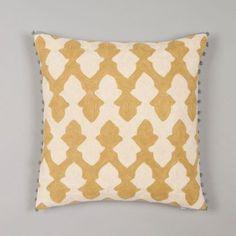 bb3050a6c8d3f2 Lattice Cushion by Niki Jones - Chartreuse   Ecru. Coussins JaunesJeter Des  ...