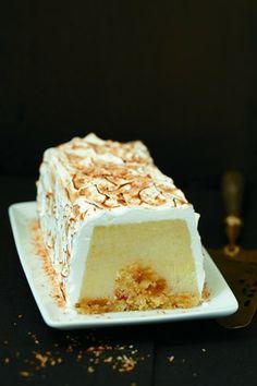 Bûche glacée des débutants - Larousse Cuisine Cold Desserts, Delicious Desserts, Dessert Recipes, Fondant Cakes, Cupcake Cakes, Thermomix Desserts, Gingerbread Cake, Xmas Food, Icecream Bar