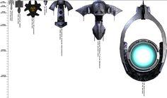 Stargate ship size chart