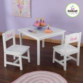 Found it at Wayfair - Personalized Aspen Kids' 3 Piece Table and Chair Set